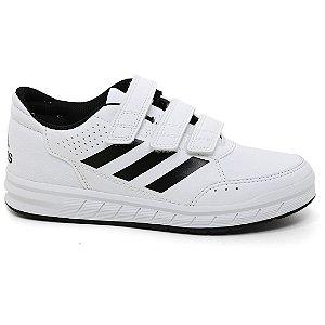 Tênis Adidas AltaSport CF Velcro Infantil BA7458 White Black Tam 26 ao 32