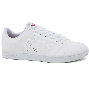 Tênis Adidas Advantage Clean W B74578 Feminino White Pink