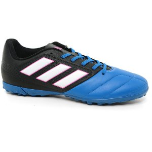 Chuteira Adidas Ace 17.4 TF BB1774 Black Blue White Pink