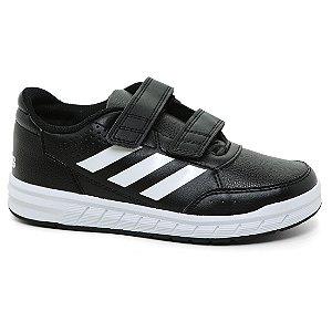 Tênis Adidas AltaSport CF Velcro Infantil BA7458 Black White Tam 26 ao 32