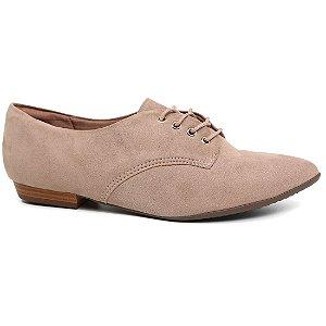 Sapato Piccadilly 725018 Oxford Bico Fino Feminino Bege