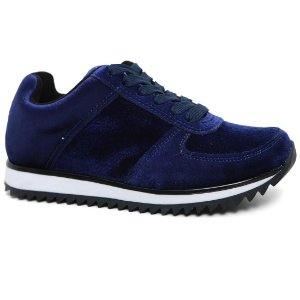 Tênis Vizzano 1234.103 Jogging Feminino Veludo Multi Azul