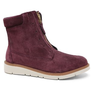 Bota Ramarim 17-10103 Ankle Boots Flatform Camurça Ameixa