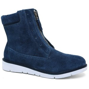 Bota Ramarim 17-10103 Ankle Boots Flatform Camurça Blue Branco