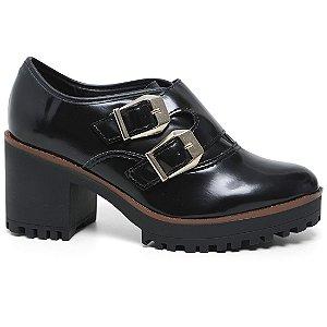Sapato Moleca 5626.103 Feminino Tratorado Salto Preto