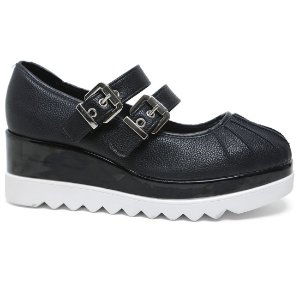 Sapato Moleca 5624.104 Feminino Tratorado Preto