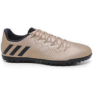 Chuteira Adidas Messi 16.3 TF BA9856 Masculina Society Ouro Black Green