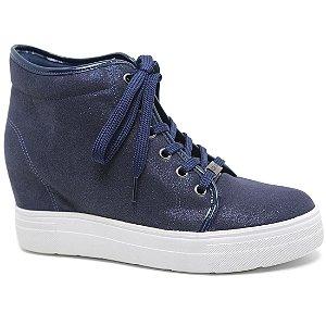 Bota Quiz 47-61904 Sneaker Plataforma Feminina Marinho