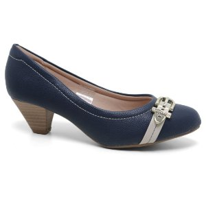 Sapato Modare 7005.311 Scarpin Casual Feminino Marinho Gelo