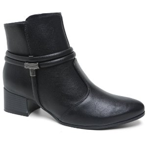 Bota Ramarim 17-59103 Ankle Boot Feminina Preta