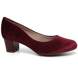 Sapato Beira Rio 4777.309 Scarpin Conforto Veludo Vinho