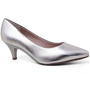 Sapato Beira Rio 4076.150 Scarpin Conforto Feminino Verniz Dourado