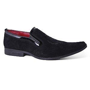 Sapato Calvest 1685B439 Esporte Masculino Couro Camurça Preto