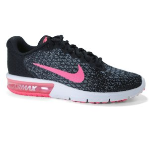 Tênis Nike Air Max Sequent 852465 Feminino Black Pink Anthracite