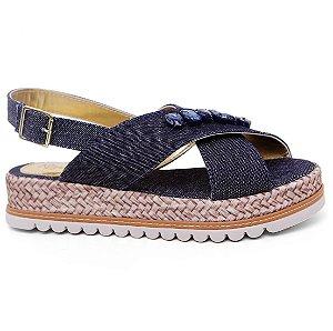 Sandália Klassipé 175.104 Flatform Menina Jeans