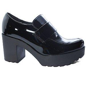 Sapato Moleca 5647.101 Abotinado Salto Tratorado