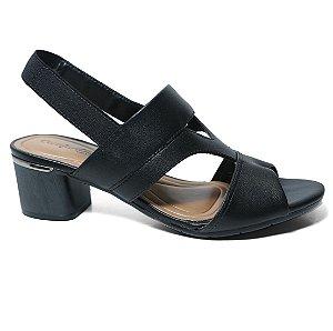 Sandalia Comfortflex 18-52404 Salto Grosso Feminina