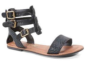 Sandália Dakota Z0142 Gladiador Feminina Preto
