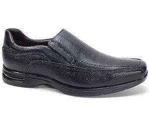 Sapato Democrata Air Stretch Spot 448023 Social Masculino Couro Preto