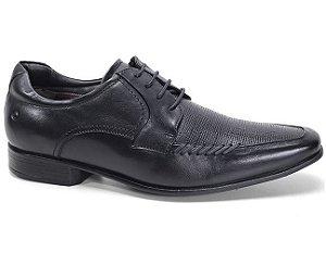 Sapato Democrata Clyde 131104 Social Masculino Couro Preto