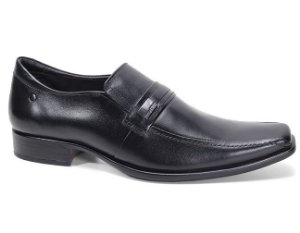 Sapato Democrata Hampton 430023 Social Masculino Couro Preto