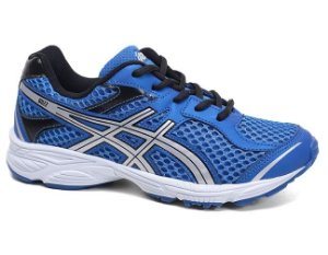 Tênis Asics Buzz C001A Junior Blue Silver White