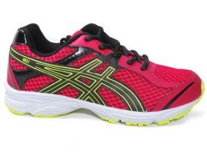 Tênis Asics Buzz C001A Junior Red Black Lemon White