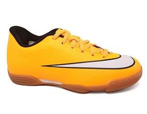 Chuteira Nike Mercurial Vortex II IC 651643 Indor Infantil Tam 26 ao 36 Laranja Black