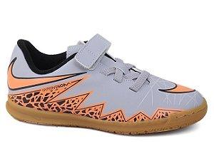 Chuteira Nike Hypervenom Phade II (V) IC 749908 Junior Wolf Grey Laranja