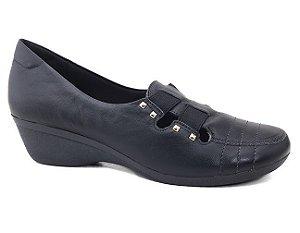 Sapato Usaflex U8307/50 Feminino Couro Preto