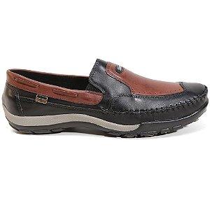 Sapato Tertuliano Mocassim 059 Masculino Preto Tabaco