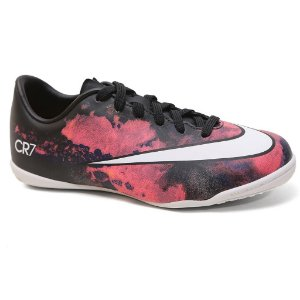 Chuteira Nike Mercurial Victory V CR IC 684851 Salão Black White Multi