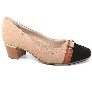 Sapato Comfortflex 15-95314 Feminino Scarpin Preto Pinhão Avelã