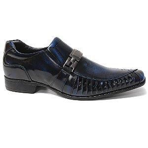 Sapato Rafarillo 7849 Social Masculino Couro Azul Preto
