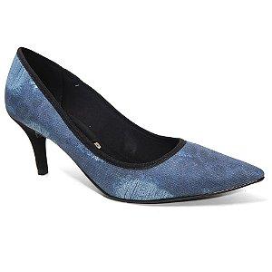 Sapato Vizzano 1185.134 Scarpin Feminino Azul Jeans Multi