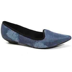 Sapatilha Vizzano 1131.576 Feminina Tecido Jeans Azul