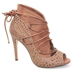 Ankle boot Cecconello 945009 Feminino Crocodilo Camel