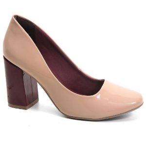 Sapato Scarpin Ramarim 16-97102 Verniz Amêndoa Malbec