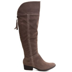 Bota Ramarim Montaria 16-62105 Over Knee Velvet Plus Chocolate