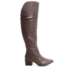 Bota Ramarim Montaria 16-51102 Over Knee Marrom