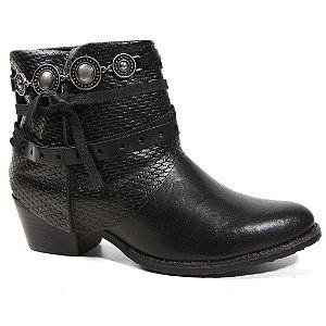 Bota Tanara T0304 Ankle Boots Feminina Preto