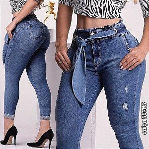 Calça Modeladora Cinto Jeans 56705