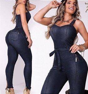 Macacão Jeans Modelador 56352