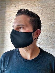 10 Máscaras Bico de Pato 100% Algodão C/Elástico Regulável Cor Preto