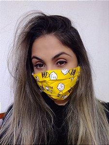Máscara Turma do Snoopy 100% Algodão C/Elástico Regulável