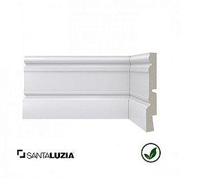 Rodapé Santa Luzia poliestireno 01 branco Clássica 12,3cm x 20mm x 2,40m