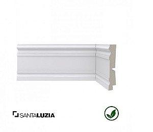 Rodapé Santa Luzia poliestireno 444 branco Clássica 9,6cm x 20mm x 2,40m