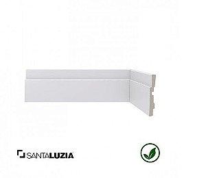 (LOTE PROMOCIONAL) FDL Rodapé Santa Luzia poliestireno 447 branco Moderna 6,5cm x 13mm x 2,40m
