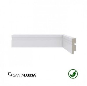 Rodapé Santa Luzia poliestireno 455 branco Moderna 5cm x 16mm x 2,40m
