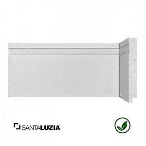 Rodapé Santa Luzia poliestireno 493 branco Moderna 12cm x 16mm x 2,40m